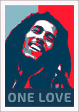 Sticker mural  Bob Marley, One Love - Alex Saberi