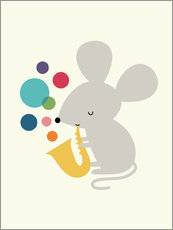 Sticker mural  Souris musicienne - Andy Westface