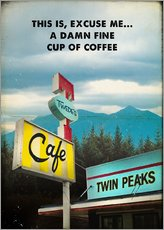 Sticker mural  Twin Peaks (anglais) - 2ToastDesign