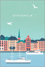Sticker mural  Illustration Stockholm - Katinka Reinke