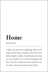 Poster  Définition de Home (anglais) - Johanna von Pulse of Art