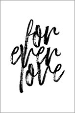 Verre acrylique  Forever love - Martina illustration