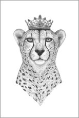 Toile  The Queen Cheetah - Valeriya Korenkova