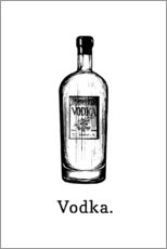 Poster  Bouteille de vodka - Typobox