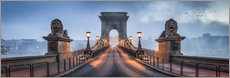 Poster  Chain Bridge à Budapest, Hongrie - Jan Christopher Becke