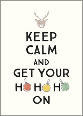 Tableau sur toile  Keep calm and get your Hohoho on - Typobox