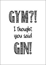 Tableau en aluminium  Gym or Gin - Typobox