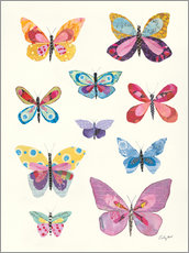 Poster Papillons en collage II