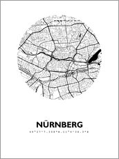 Alu-Dibond  Carte de Nuremberg - 44spaces
