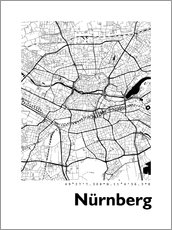 Poster  Carte de Nuremberg - 44spaces