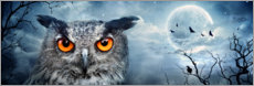 Sticker mural  Hibou au clair de lune - Art Couture