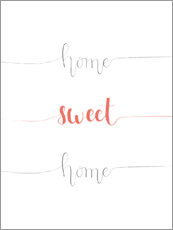 Tableau en aluminium  Home sweet home - Typobox