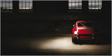 Poster  Porsche 911 rouge - Art Couture