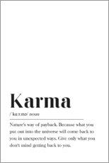 Poster  Définition de Karma (anglais) - Johanna von Pulse of Art