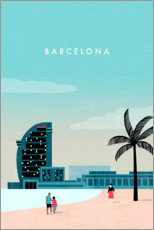 Sticker mural  Illustration Barcelona - Katinka Reinke