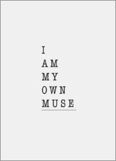 Poster I am my own muse
