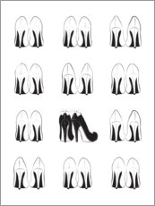 Poster  Collection de talons hauts - Martina illustration