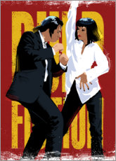 Sticker mural  Pulp Fiction Danse - Nikita Abakumov