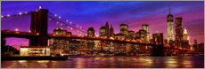 Alu-Dibond  Pont de Brooklyn - Art Couture
