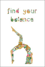 Poster  Find your balance - GreenNest