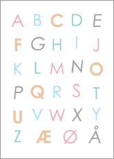 Poster  Alphabet scandinave coloré - Typobox