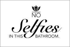 Sticker mural  No selfies in the bathroom - Typobox