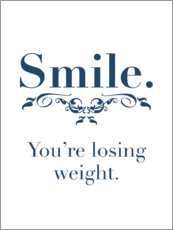 Tableau en bois  Smile, you're losing weight - Typobox