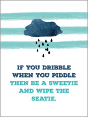 Poster  If you dribble - Typobox