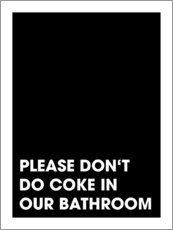 Tableau en PVC  Please don't do coke - Typobox