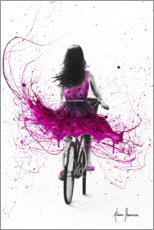 Poster Cycliste rose