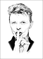 Toile  Portrait de David Bowie - Dirk Richter