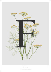 Tableau en verre acrylique  F is for Fennel - Charlotte Day