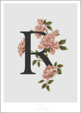 Tableau en aluminium  R is for Rose - Charlotte Day