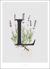 Tableau sur toile  L is for Lavender - Charlotte Day