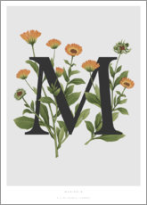 Poster  M is for Marigolds - Charlotte Day