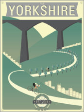 Poster Tour de Yorkshire, course cycliste