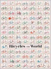 Tableau en plexi-alu  Bicycles of the World - Wyatt9