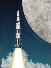 Poster  Mission Apollo sur la Lune - Wyatt9