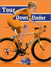 Poster Tour Down Under, course cycliste en Australie