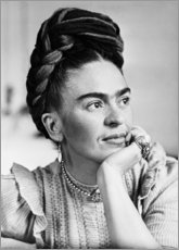 Tableau en bois  Frida pensive - Celebrity Collection