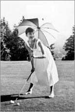 Tableau en verre acrylique  Audrey Hepburn au golf - Celebrity Collection