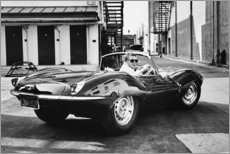 Poster  Steve McQueen dans une Jaguar - Celebrity Collection