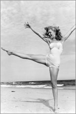 Tableau en PVC  Marilyn sur la plage - Celebrity Collection