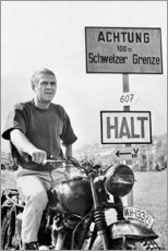 Poster  Steve McQueen dans La Grande Évasion - Celebrity Collection