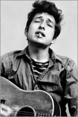 Toile  Bob Dylan avec une guitare - Celebrity Collection