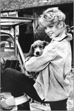 Poster  Brigitte Bardot avec un chien - Celebrity Collection