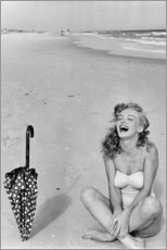 Tableau en verre acrylique  Marilyn Monroe sur la plage - Celebrity Collection