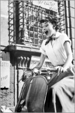 Tableau en plexi-alu  Audrey Hepburn en Vespa - Celebrity Collection