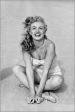Tableau en bois  Marilyn Monroe en maillot de bain - Celebrity Collection