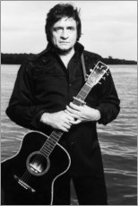 Poster Johnny Cash avec une guitare